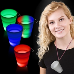 Rainbow LED  Shot Glass Medallion