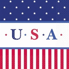 Stars & Stripes  Lunch Napkins