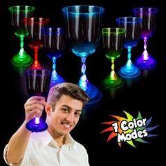 10 oz L.E.D. Wine Glass