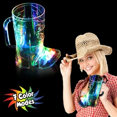 Cowboy Boot Shape  Light Up Cup