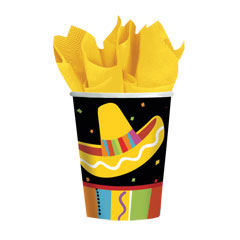 FIESTA PARTY   9 oz. PAPER CUPS