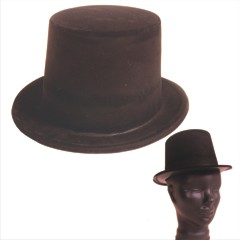 BLACK VELOUR TOP HATS
