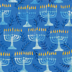 HANUKKAH MENORAH   LUNCHEON NAPKINS