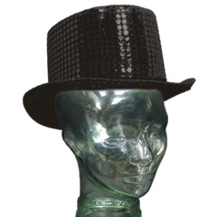 BLACK SEQUIN   TOP HATS