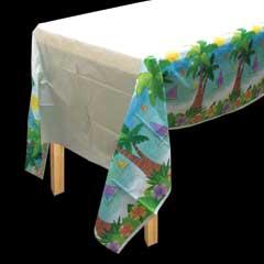 Ocean View   Plastic Table Covers 3 per pack