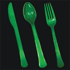 GREEN PLASTICWARE