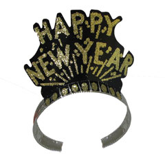Happy New Year   Black & Gold Tiaras