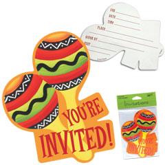 FIESTA STRIPES   INVITATIONS