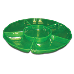 GREEN SECTIONAL   SERVING TRAY