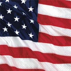 AMERICAN FLAG   BEVERAGE NAPKINS