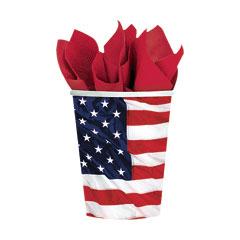 AMERICAN FLAG   9 oz. CUPS
