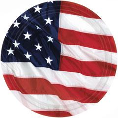 AMERICAN FLAG   10 1/2'' PLATES