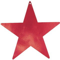 RED STAR   FOIL CUTOUTS