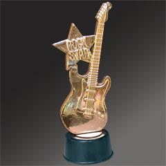 ROCK STAR HERO   GUITAR TROPHY