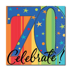 CELEBRATE 70  BEVERAGE NAPKINS
