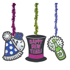 PARTY DANGLERS   NEW YEARS DECORATIONS