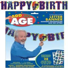 HAPPY BIRTHDAY CUSTOM LETTER BANNER