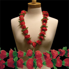 RED ROSES LEI