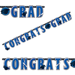 Blue Graduation Letter Banner