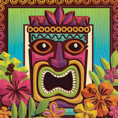 Tropical Tiki Lunch Napkins 125 per pack