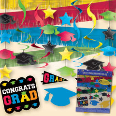 COLORFUL GRAD DECORATION KIT